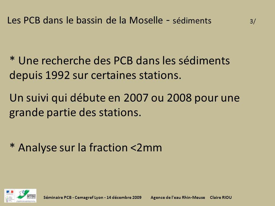 Les PCB dans le bassin de la Moselle - sédiments 3/