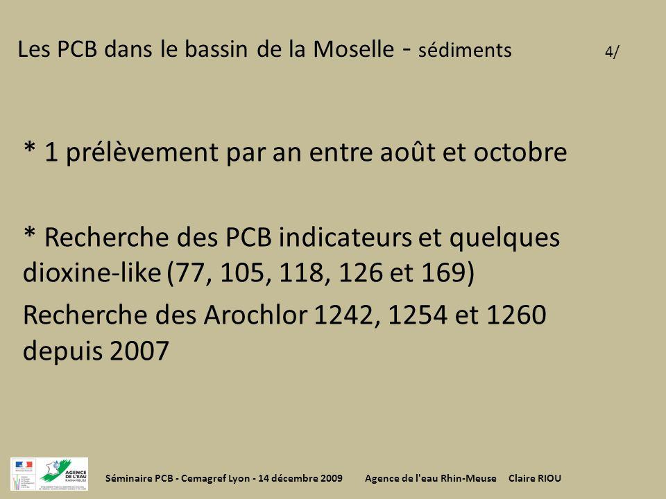 Les PCB dans le bassin de la Moselle - sédiments 4/