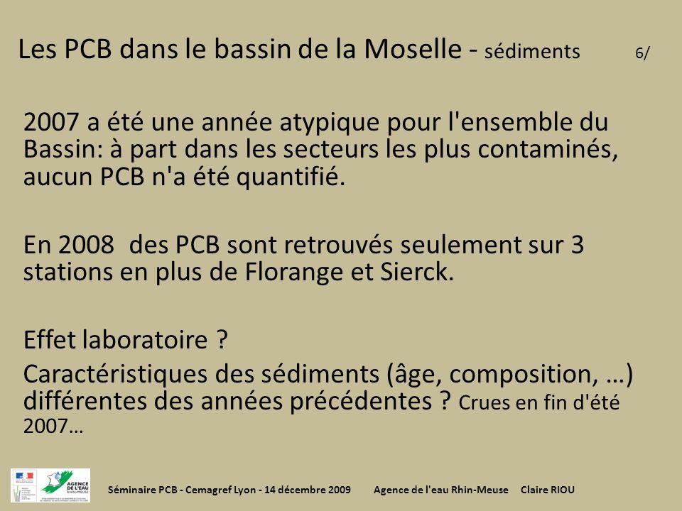 Les PCB dans le bassin de la Moselle - sédiments 6/