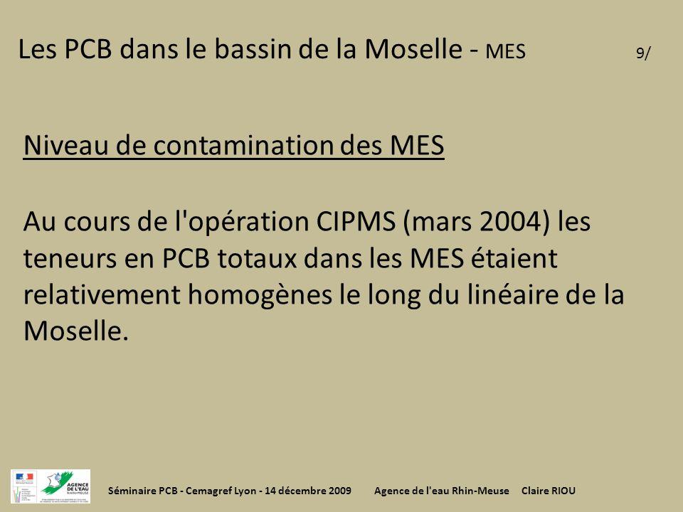 Les PCB dans le bassin de la Moselle - MES 9/