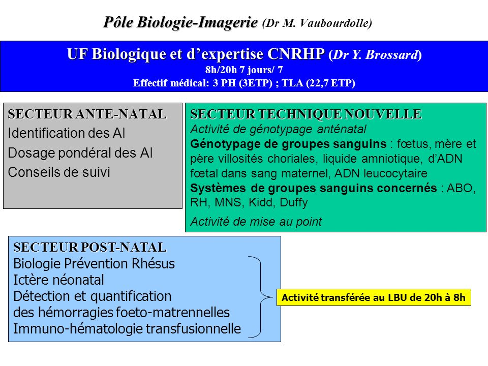 Pôle Biologie-Imagerie (Dr M. Vaubourdolle)