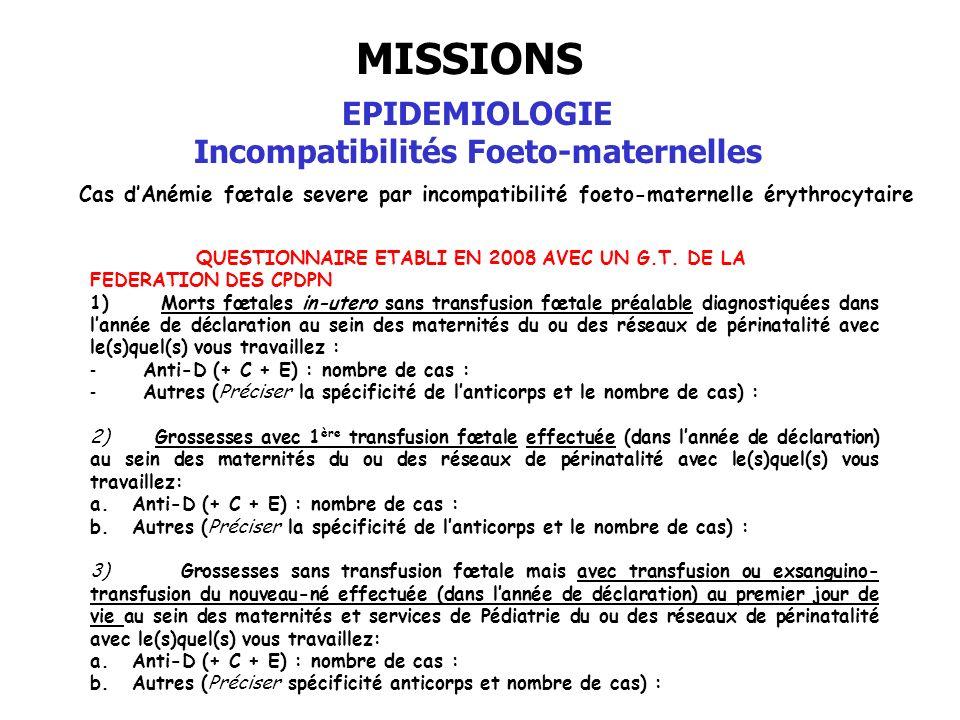 Incompatibilités Foeto-maternelles