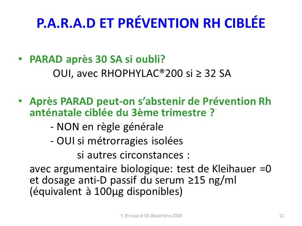 P.A.R.A.D ET PRÉVENTION RH CIBLÉE