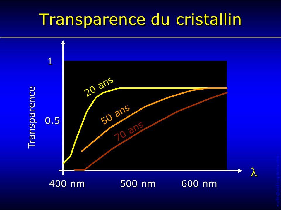 Transparence du cristallin