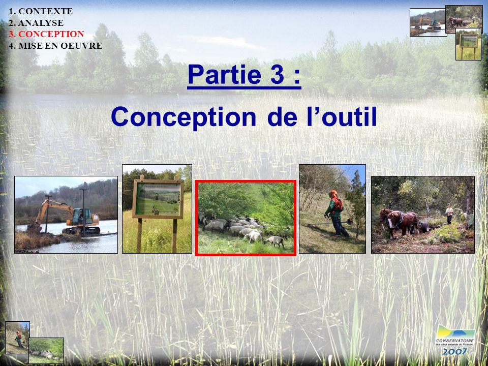 Partie 3 : Conception de l'outil