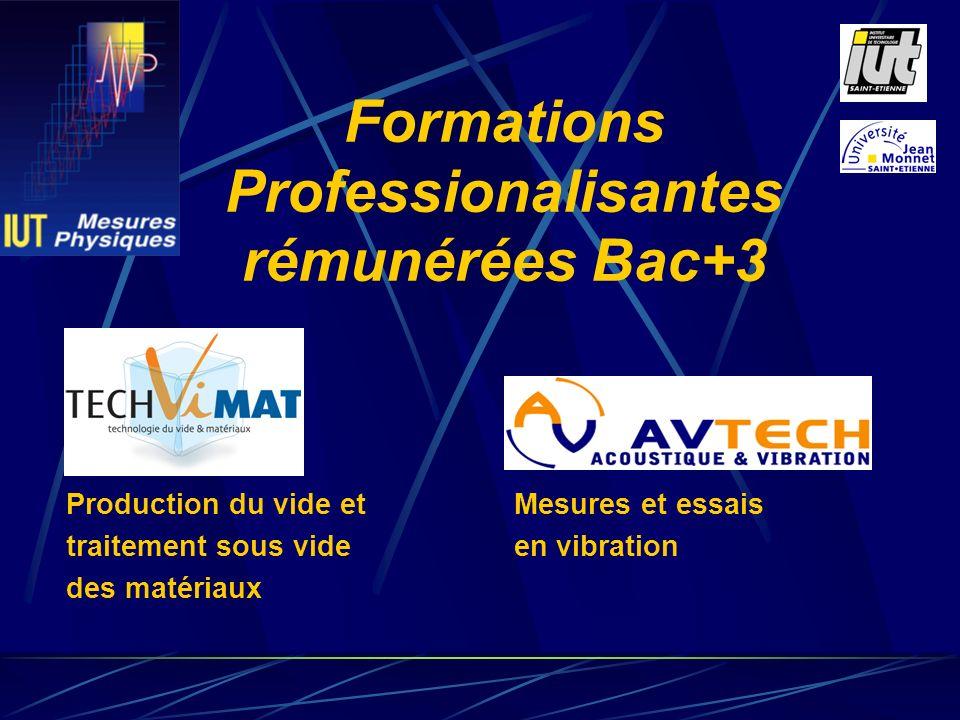 Formations Professionalisantes rémunérées Bac+3