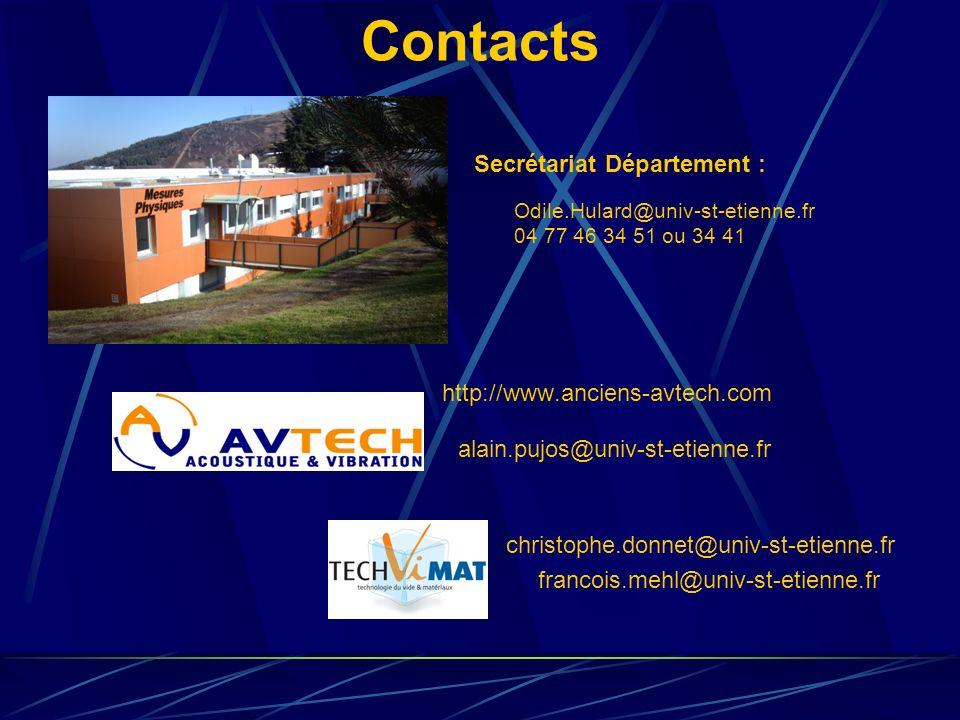 Contacts Secrétariat Département : http://www.anciens-avtech.com