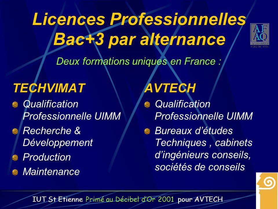 Licences Professionnelles Bac+3 par alternance