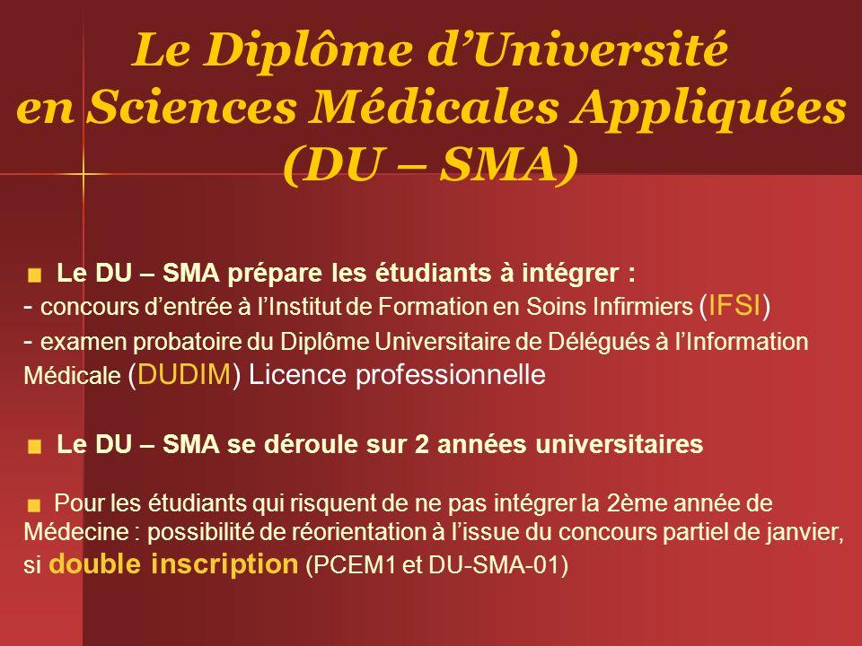 Le Diplôme d'Université en Sciences Médicales Appliquées