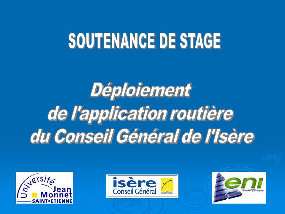 de l application routière du Conseil Général de l Isère