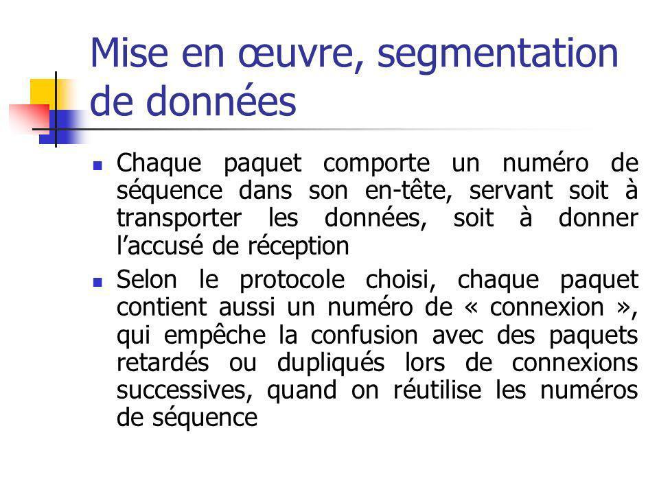 Mise en œuvre, segmentation de données