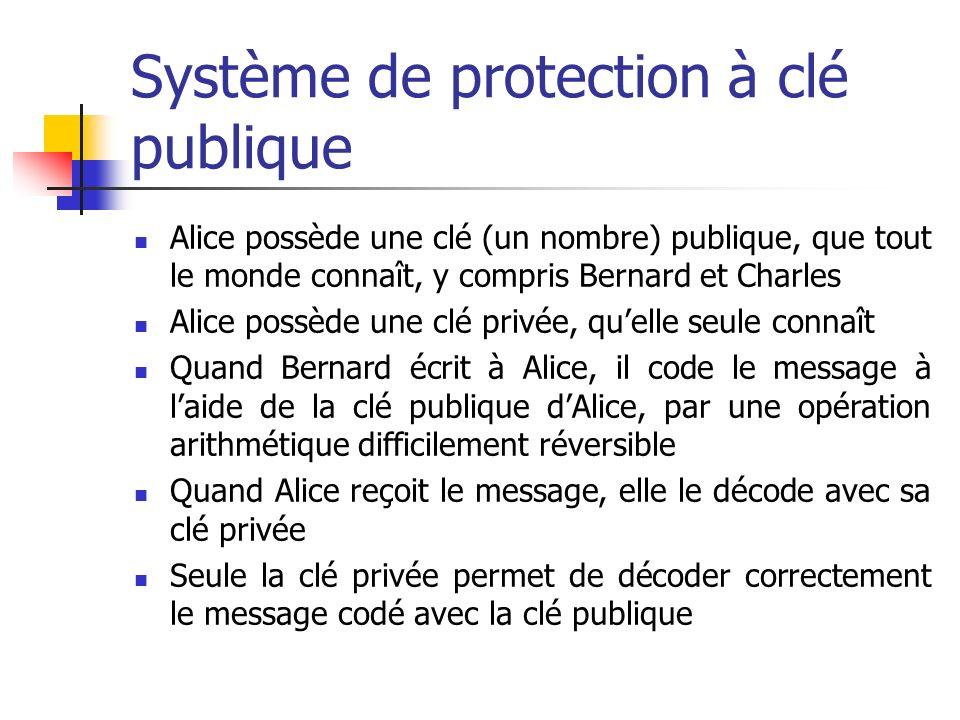 Système de protection à clé publique