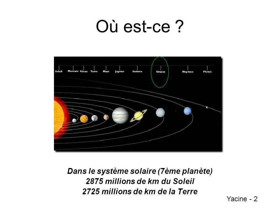 Où est-ce Dans le système solaire (7ème planète)