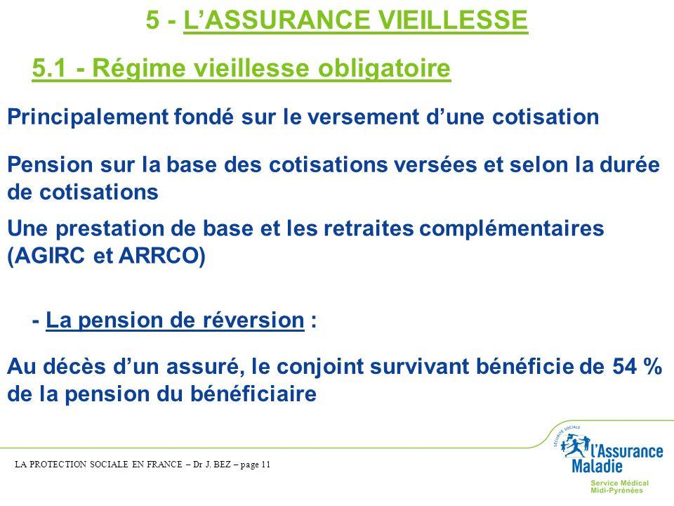 5 - L'ASSURANCE VIEILLESSE