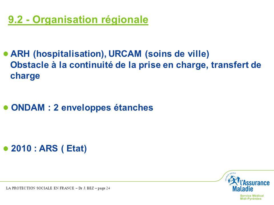 9.2 - Organisation régionale