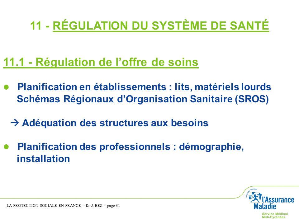 11 - RÉGULATION DU SYSTÈME DE SANTÉ
