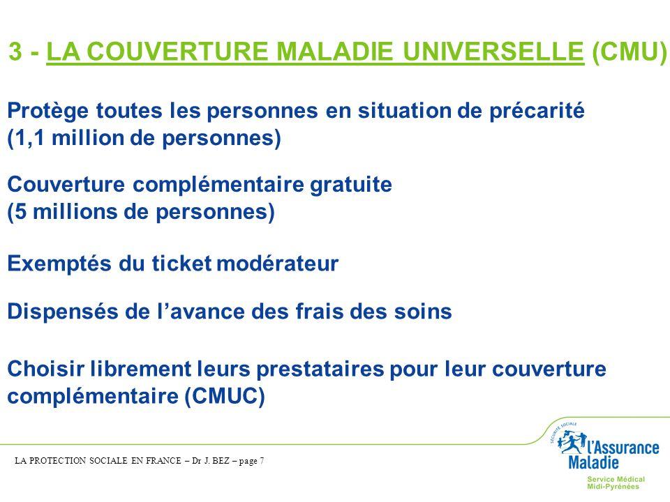 3 - LA COUVERTURE MALADIE UNIVERSELLE (CMU)