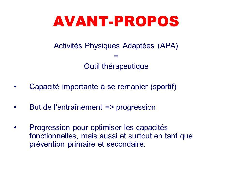 Activités Physiques Adaptées (APA)