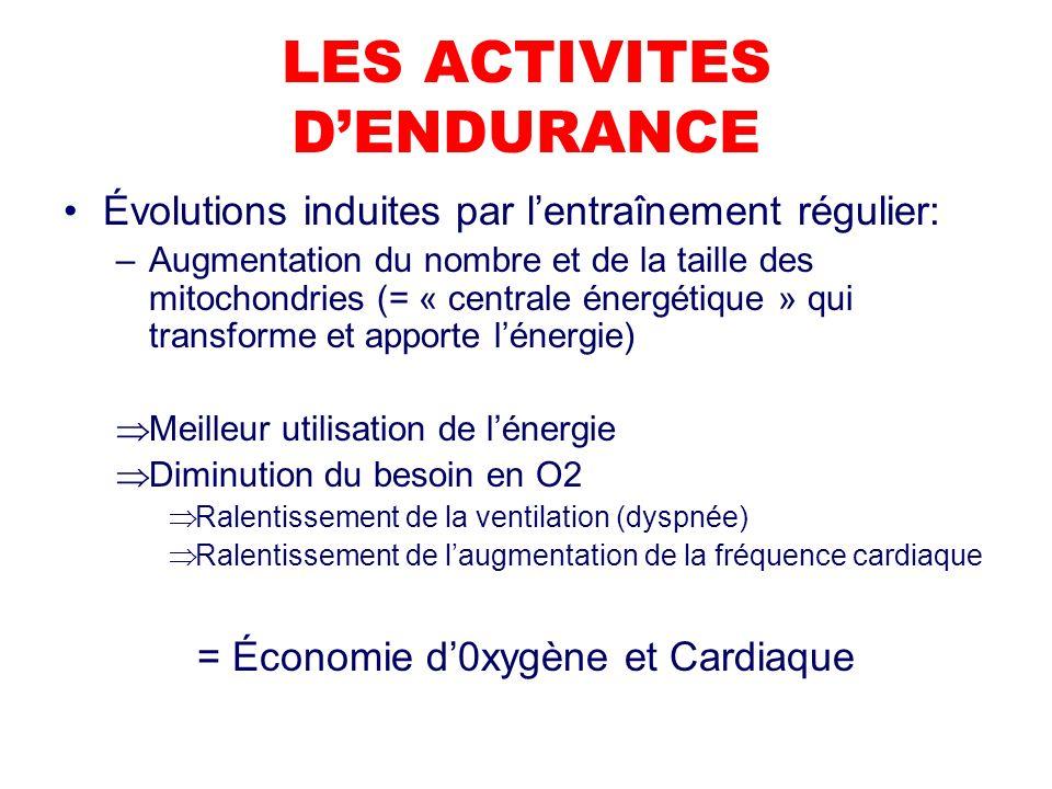 LES ACTIVITES D'ENDURANCE