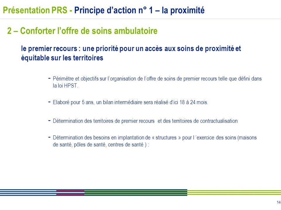 Présentation PRS - Principe d'action n° 1 – la proximité