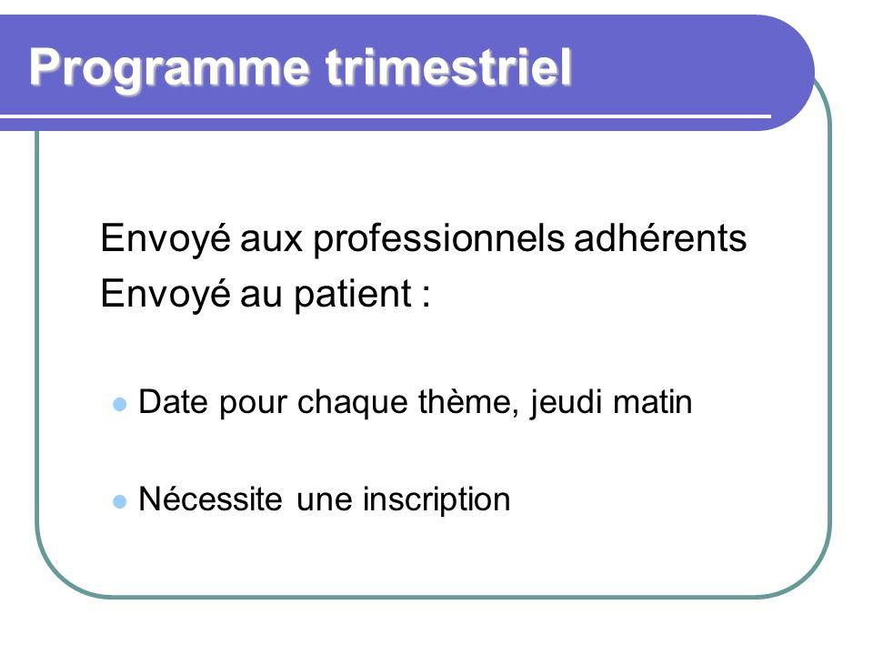 Programme trimestriel