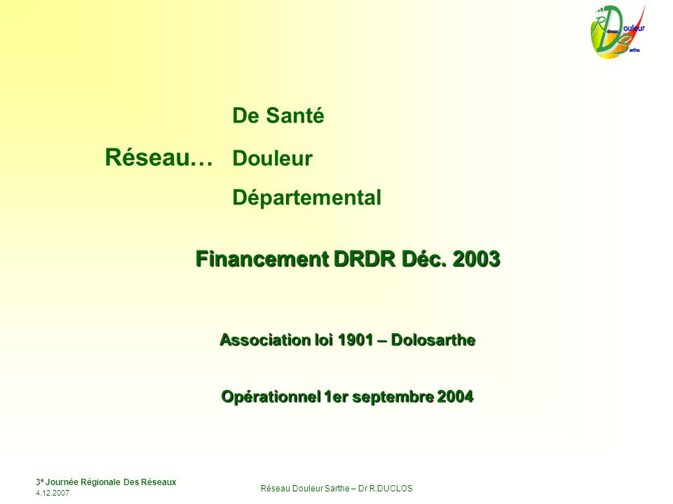 Association loi 1901 – Dolosarthe Opérationnel 1er septembre 2004