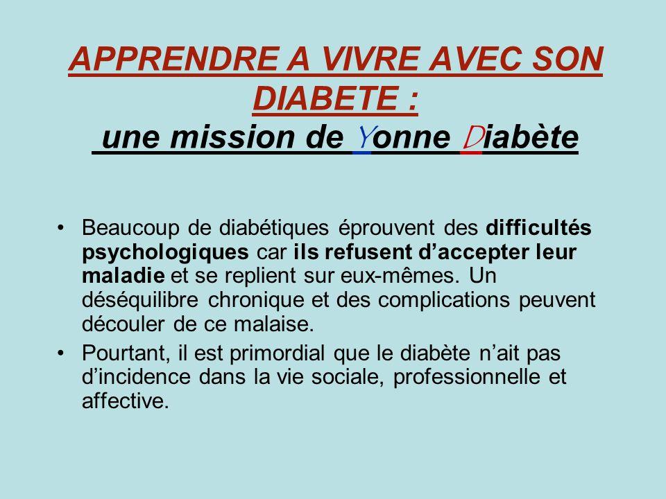 APPRENDRE A VIVRE AVEC SON DIABETE : une mission de Yonne Diabète
