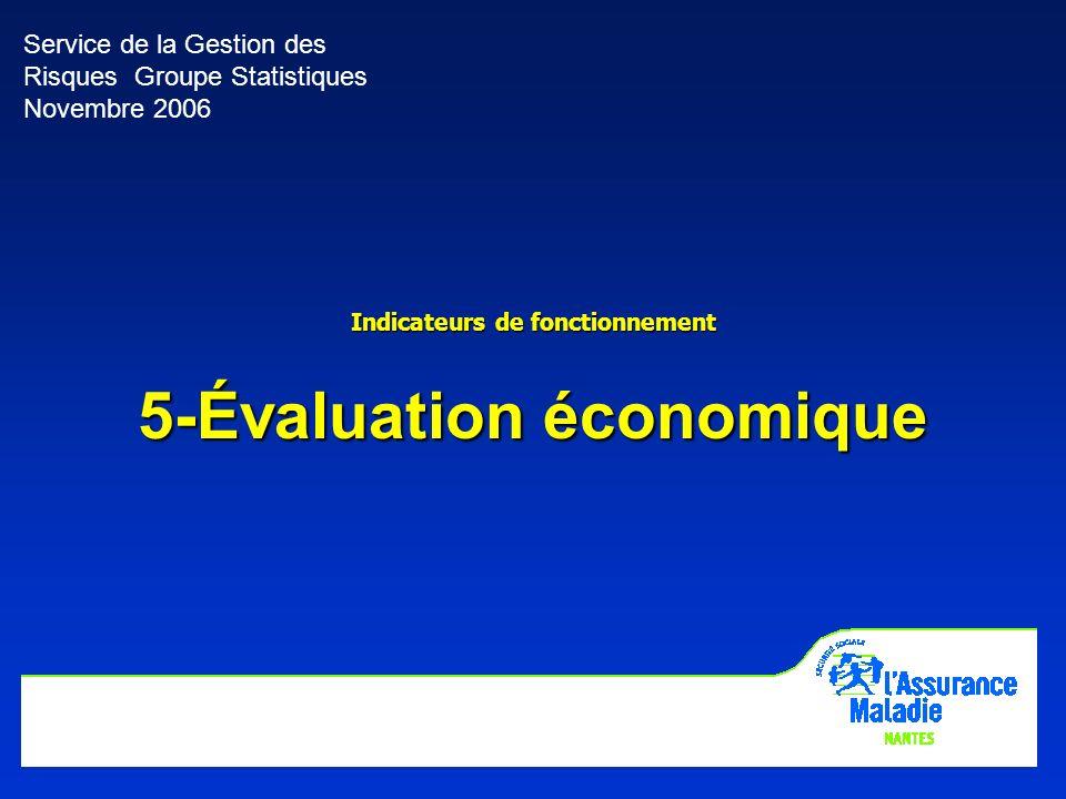 Indicateurs de fonctionnement 5-Évaluation économique