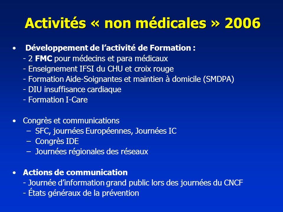 Activités « non médicales » 2006
