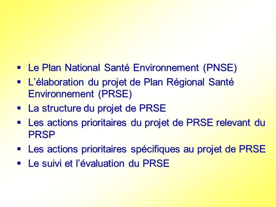 Le Plan National Santé Environnement (PNSE)