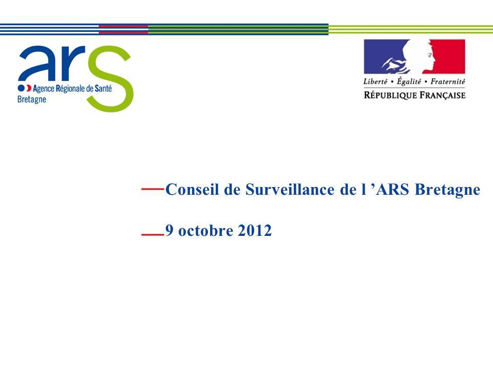 Conseil de Surveillance de l 'ARS Bretagne 9 octobre 2012