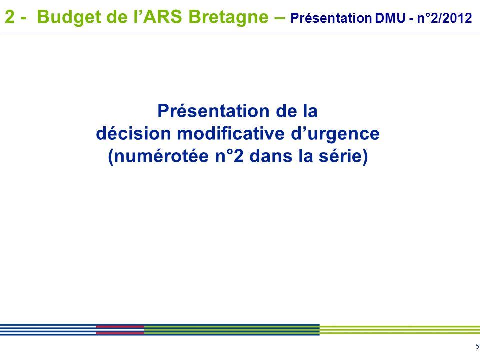 décision modificative d'urgence (numérotée n°2 dans la série)