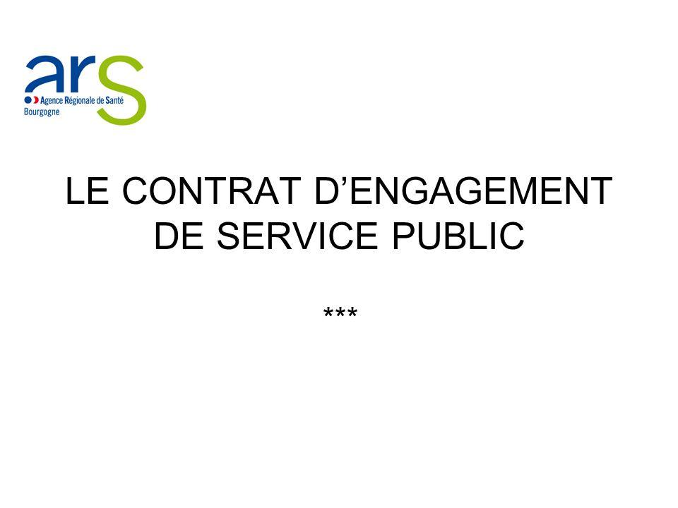LE CONTRAT D'ENGAGEMENT DE SERVICE PUBLIC