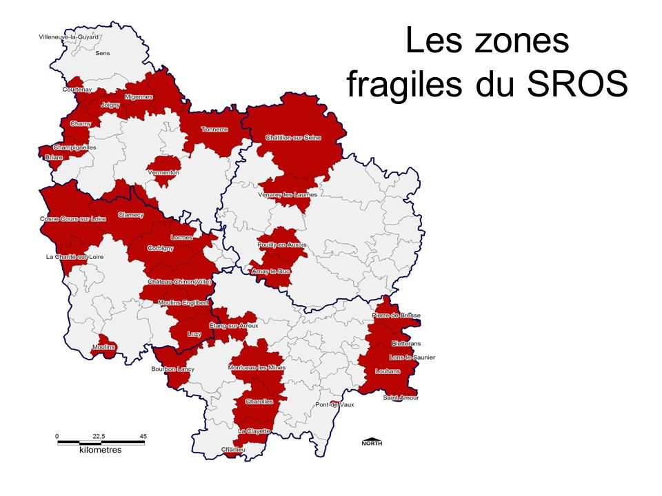 Les zones fragiles du SROS
