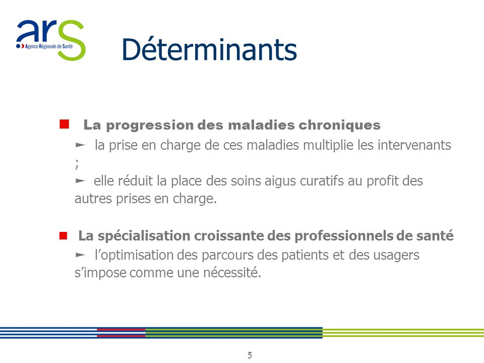 Déterminants ■ La progression des maladies chroniques