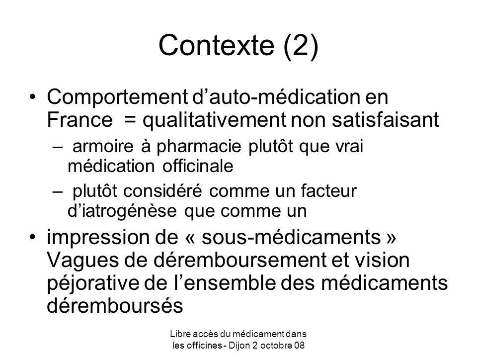 Libre accès du médicament dans les officines - Dijon 2 octobre 08