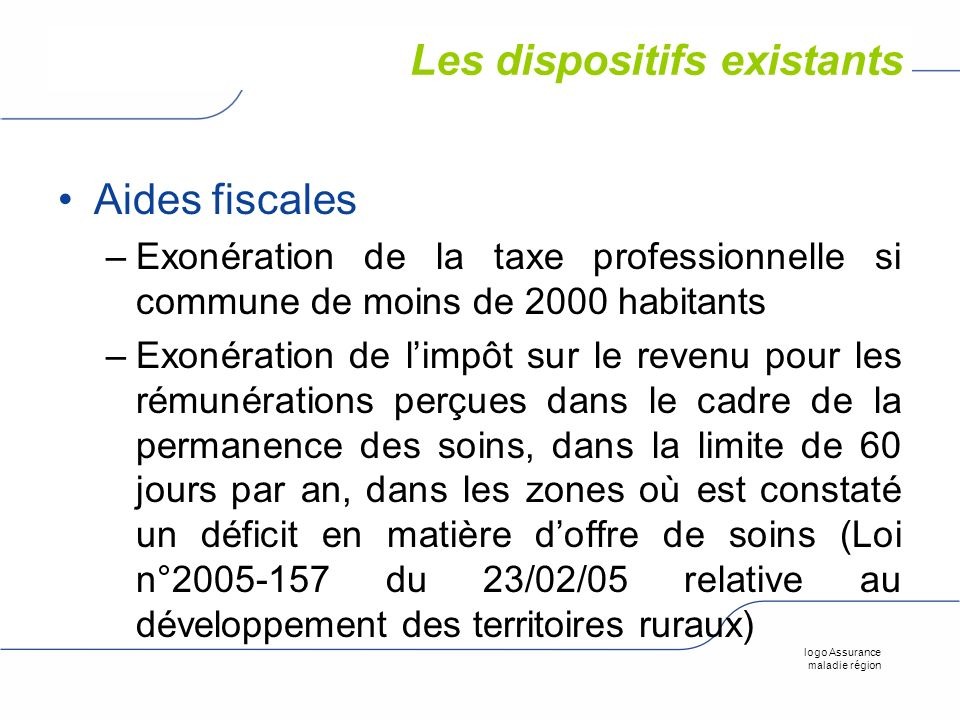 Les dispositifs existants