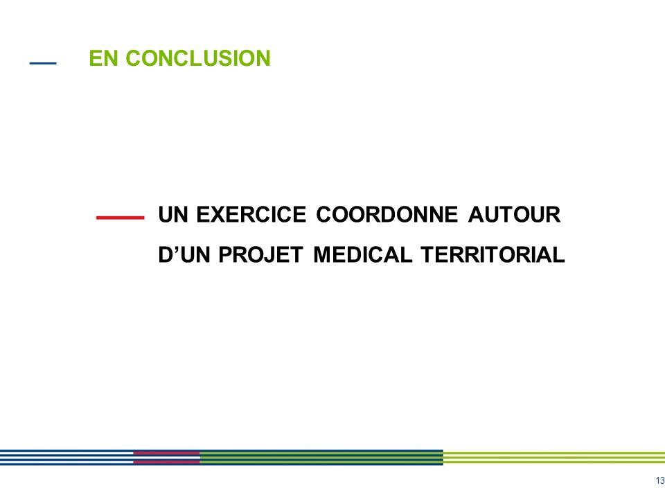 EN CONCLUSION UN EXERCICE COORDONNE AUTOUR D'UN PROJET MEDICAL TERRITORIAL