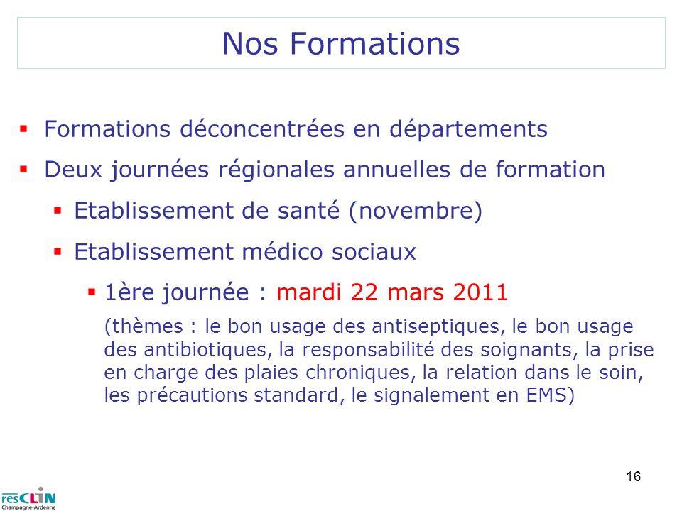 Nos Formations Formations déconcentrées en départements