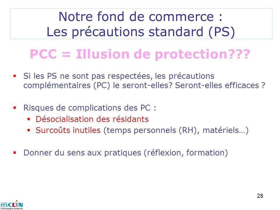 Notre fond de commerce : Les précautions standard (PS)