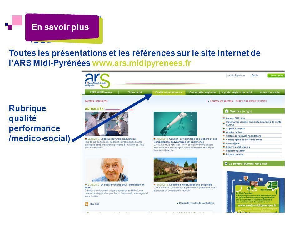 Rubrique qualité performance /medico-social)