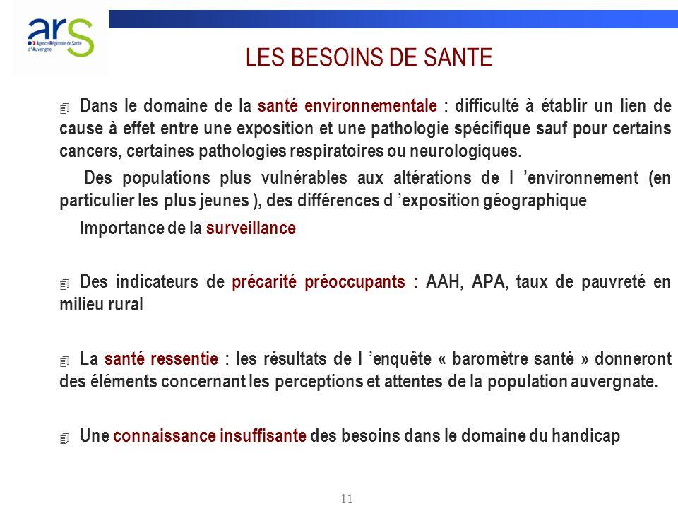LES BESOINS DE SANTE