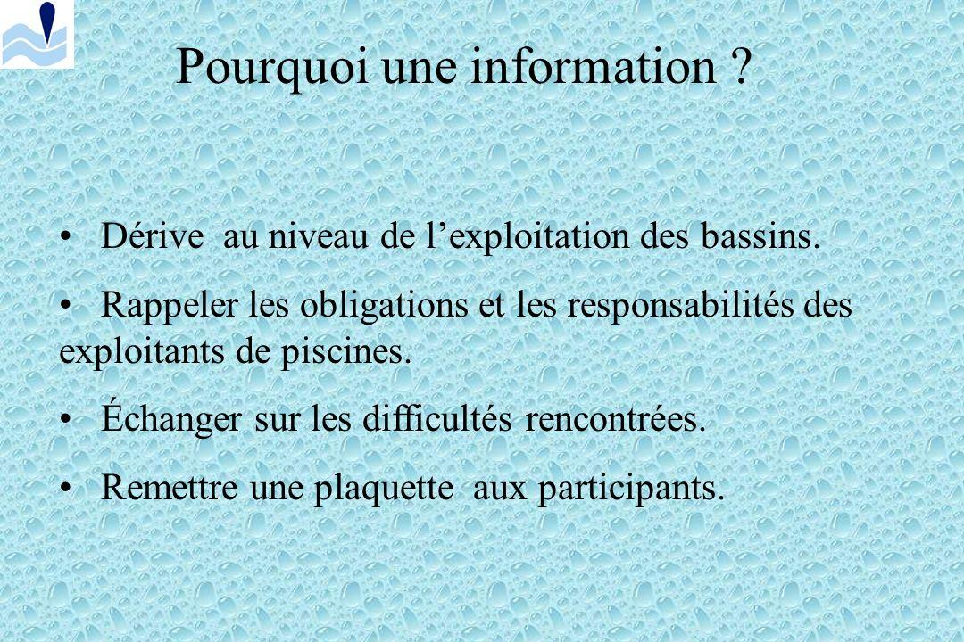 Pourquoi une information