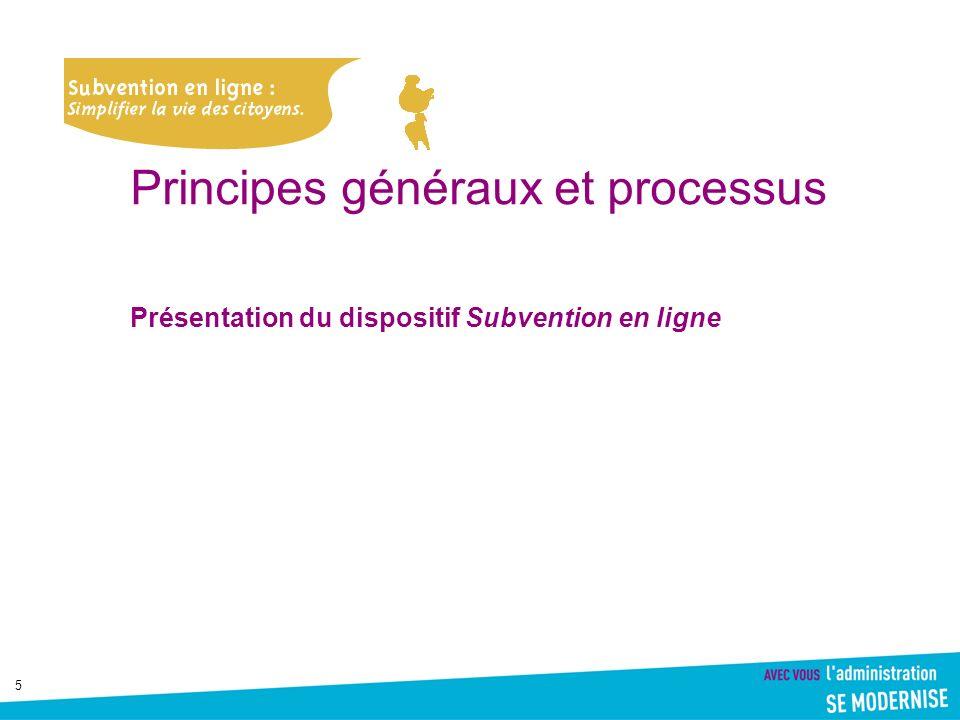 Principes généraux et processus