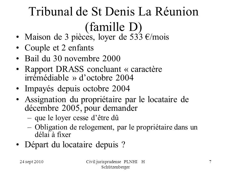 Tribunal de St Denis La Réunion (famille D)