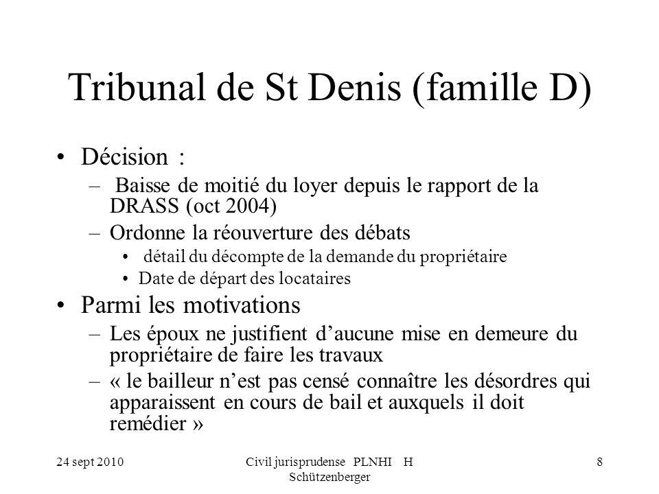 Tribunal de St Denis (famille D)