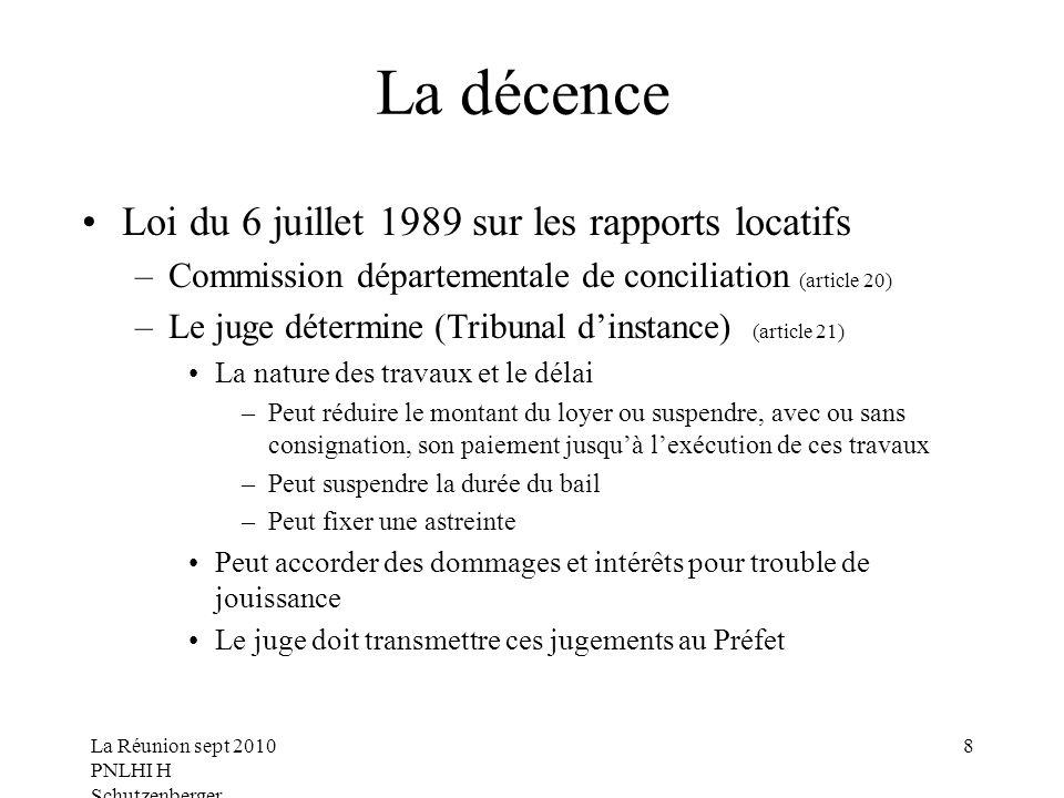 La décence Loi du 6 juillet 1989 sur les rapports locatifs