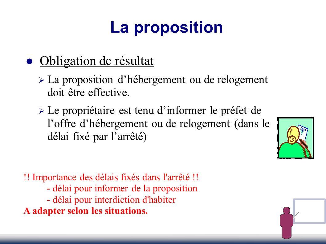 La proposition Obligation de résultat