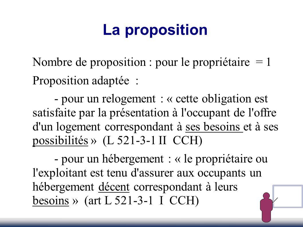 La proposition Nombre de proposition : pour le propriétaire = 1