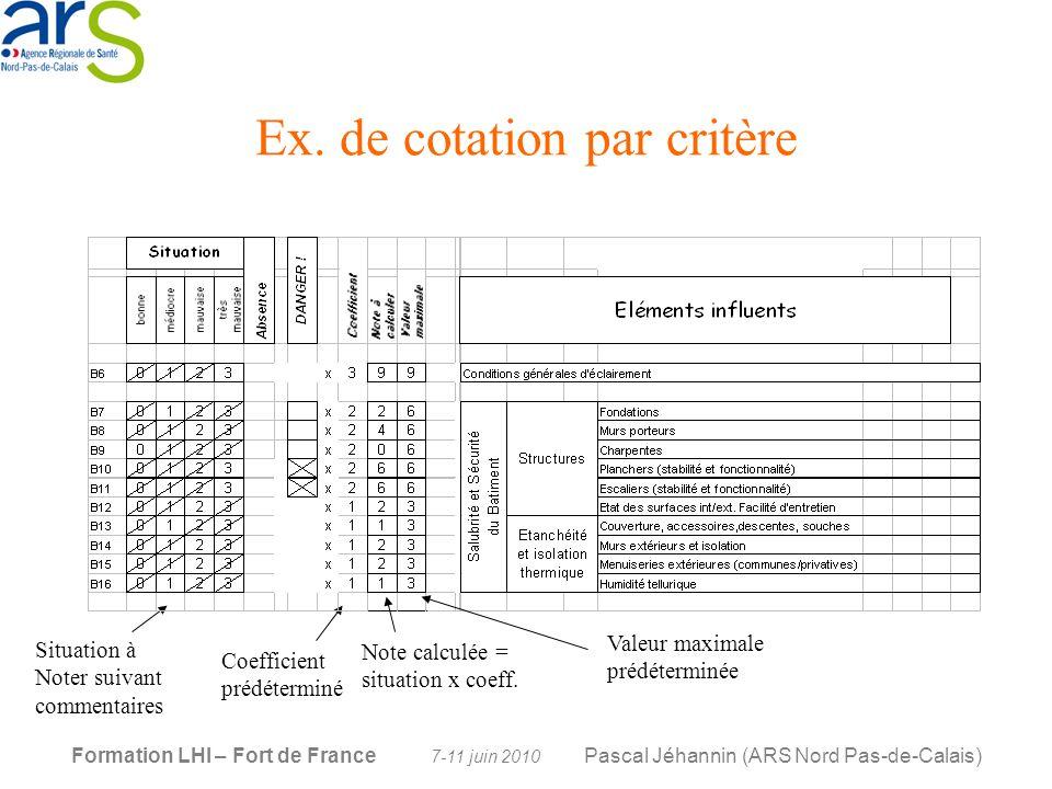 Ex. de cotation par critère